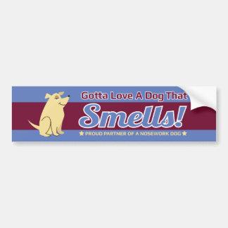 Gotta Love A Dog That Smells NoseWork BumperStickr Bumper Sticker