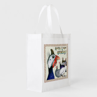 Gotta Love Guineas! Reusable Grocery Bag
