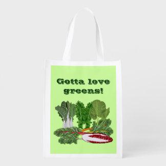 Gotta Love Leafy Greens Vegan Vegetarian Gardener Market Totes