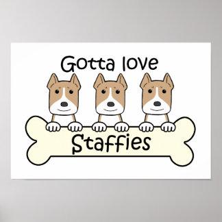 Gotta Love Staffies Print