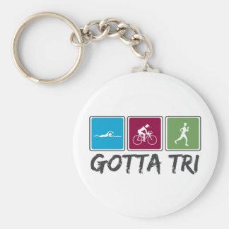 gotta tri (Triathlon) Basic Round Button Key Ring