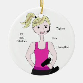 Gotta Work Out Female Weight Lifting Christmas Ornament