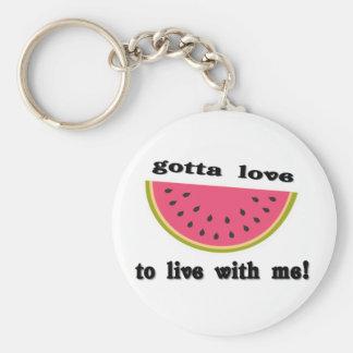 gottaloveWatermelon Basic Round Button Key Ring