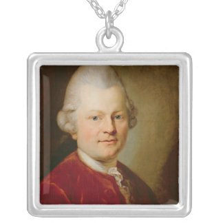 Gotthold Ephraim Lessing, 1727 Silver Plated Necklace