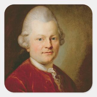 Gotthold Ephraim Lessing, 1727 Square Sticker
