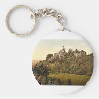 Gottingen Hardenberg Ruins, Hanover, Germany class Basic Round Button Key Ring