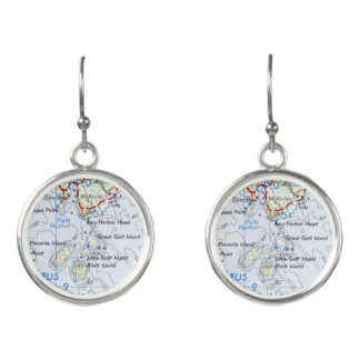 Gotts Island Map Earrings