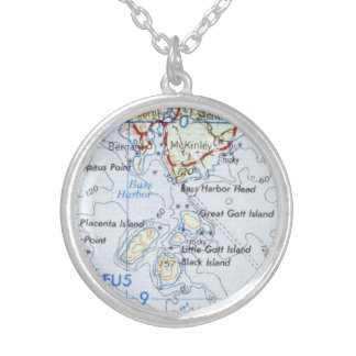Gotts Island Map Necklace