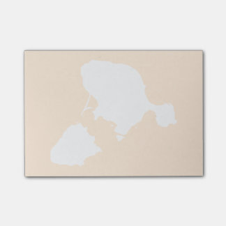 Gotts Island Post it Notes - white and tan