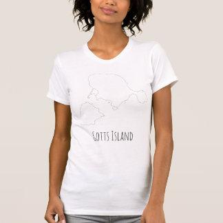 Gotts Island shirt - Outline Fine text