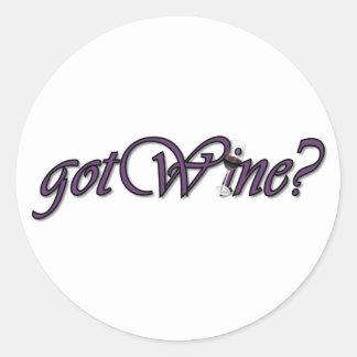 gotWine Round Sticker