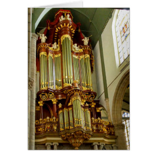 Gouda pipe organ facade card