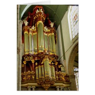 Gouda pipe organ facade greeting card