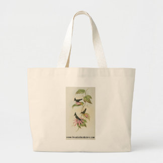 Gould - Green Blue-Crest Hummingbird Canvas Bags