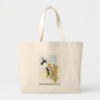 Gould - Sooty Barbed-Throat Hummingbird Tote Bags
