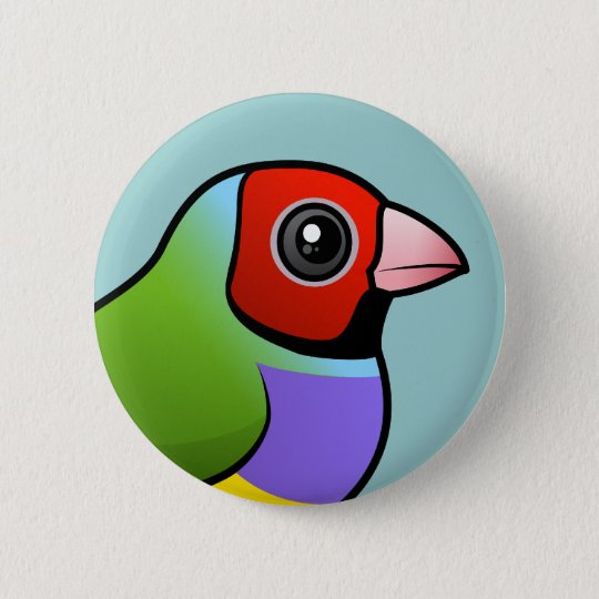 Gouldian Finch 6 Cm Round Badge