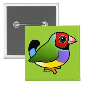 Gouldian Finch Pins