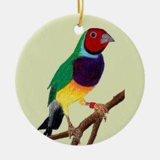 ~ Gouldian Finch ~ Original Art ~ Christmas Ornament