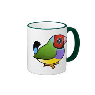 Gouldian Finch Ringer Coffee Mug