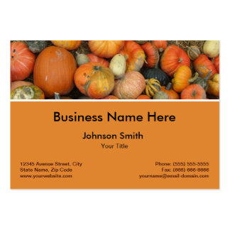 Gourd Pumpkins Autumn Happy Harvest Farmer Large Business Cards (Pack Of 100)