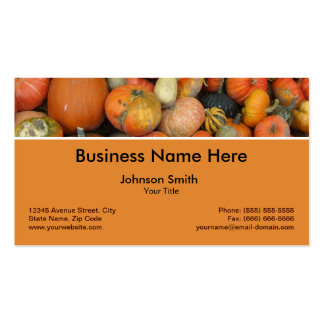 Gourd Pumpkins Autumn Happy Harvest Farmer Double-Sided Standard Business Cards (Pack Of 100)