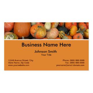 Gourd Pumpkins Autumn Happy Harvest Farmer Business Card Templates