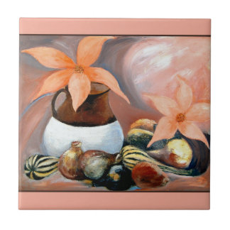 Gourds & Flowers - Tile