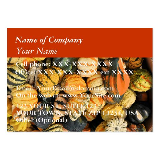 Gourds Galore! - business card template