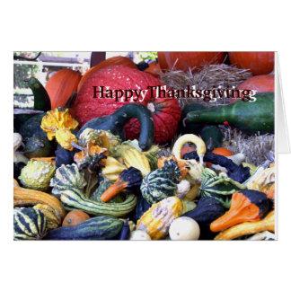 Gourds & Squash Thanksgiving card