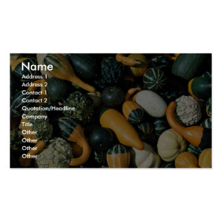 Gourds vegetables business card template