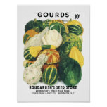 Gourds Vintage Seed Packet Poster