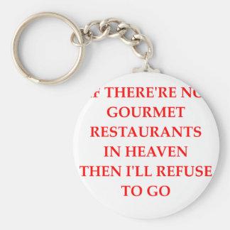 gourmet basic round button key ring