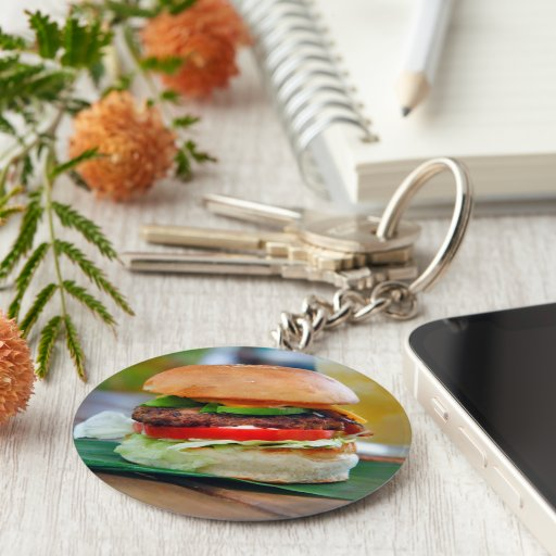 Gourmet Burger and Smoothies Keychains
