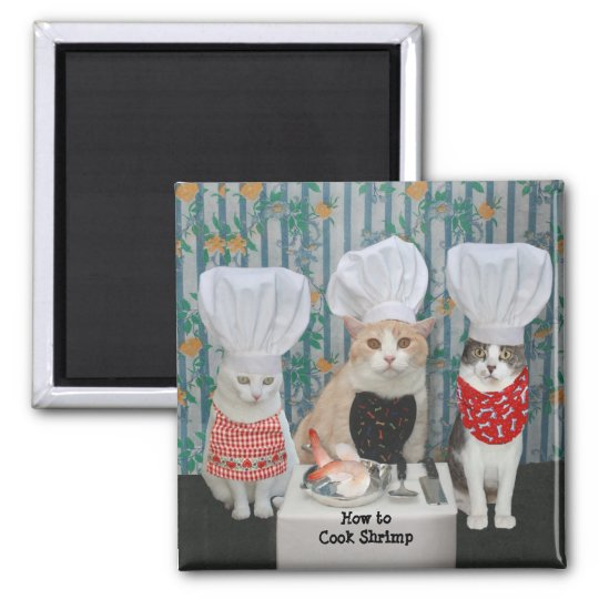 Gourmet Chef Cats/Kitties Square Magnet