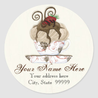 Gourmet Chocolate Mousse,  Address Stickers