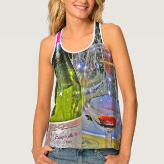 Gourmet Designs -Tanks -  Wine Glasses Tank Top