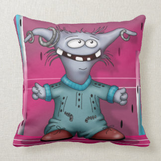 GOUZOUILLE CUTE  ALIEN THROW PILLOW 20 X 20