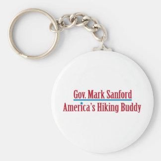 Gov. Mark Sanford Basic Round Button Key Ring