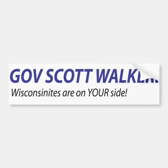 Gov Scott Walker Bumper Sticker