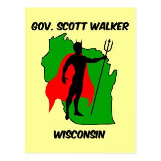 Gov Scott Walker Postcard