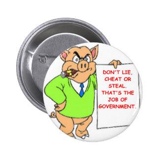 government 6 cm round badge