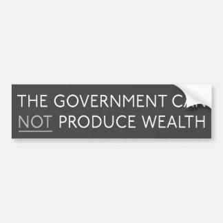 Government And Wealth Bumper Stick Bumper Stickers