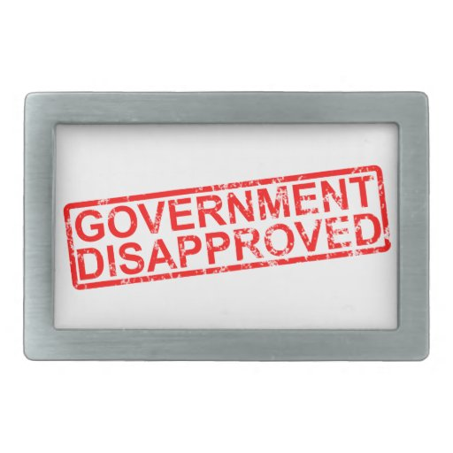 government disapproved rectangular belt buckles