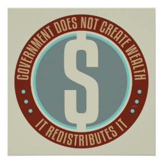 Government Does Not Create Wealth Poster