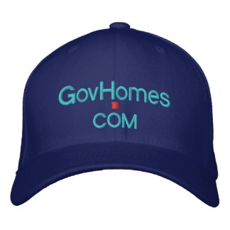 Government Foreclosed Homes @ GovHomes.com Embroidered Baseball Caps