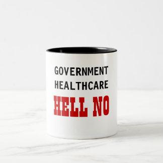 GOVERNMENT HEALTHCARE HELL NO Two-Tone MUG