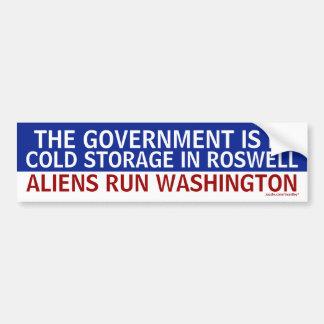 Government_in_Roswell_Aliens_in_Washington Bumper Sticker