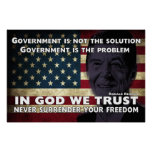 Government Is Not The Solution Posters