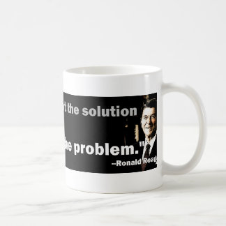 Government is the problem basic white mug