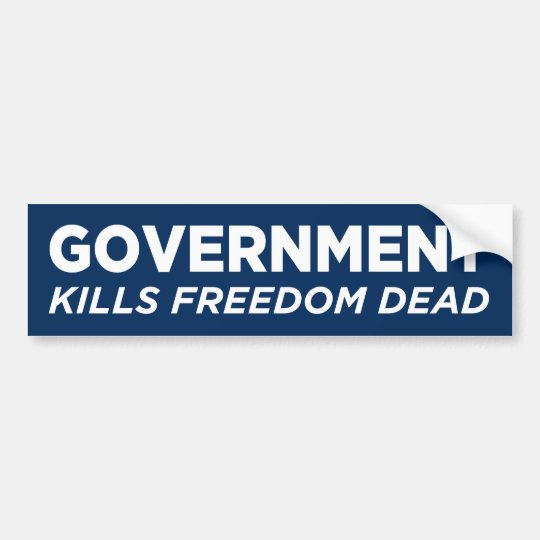 Government Kills Freedom Dead Bumper Sticker